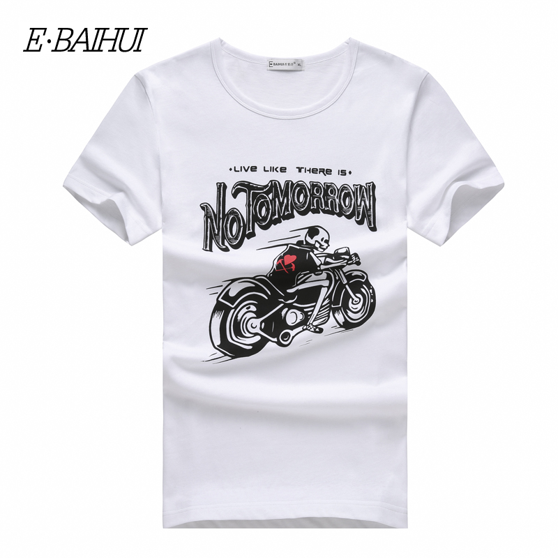 E-BAIHUI brand Summer style men clothing Fashion Men's tops tees Short Sleeve Tshirt casual T-shirts Swag mens t shirt T007