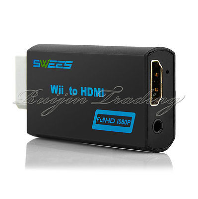 720p/1080p Wii to HDMI Cable Upscaler 3.5mm Audio Jack Dongle USB Converter Adapter(China (Mainland))