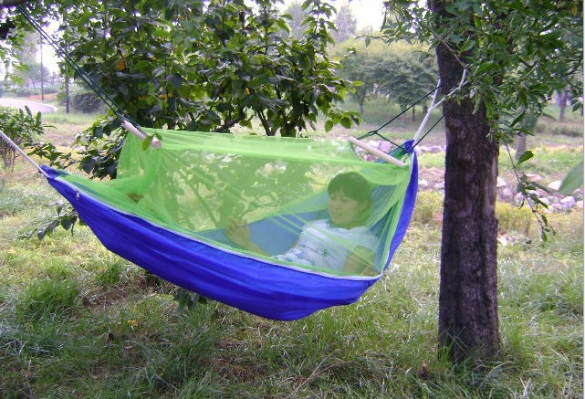 Portable hammock tent Hammock Hanging Bed With Mosquito Net For hammock Outdoor Camping Travel Free shipping