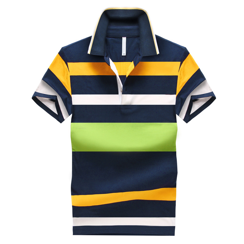 Mens Breathable Fringe Code Short Sleeved T-shirt POLO Shirt Korean Lapel Cotton Half Sleeve T-shirt(China (Mainland))