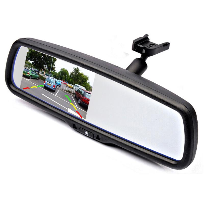 "4.3"" TFT LCD Car Parking Rearview Mirror Monitor With Special Bracket For VW Audi Ford Toyota Nissan Mazda Hyundai Kia Honda(China (Mainland))"