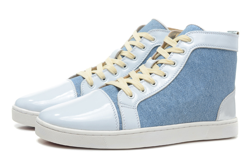 patent leather white color shoes high top flat with
