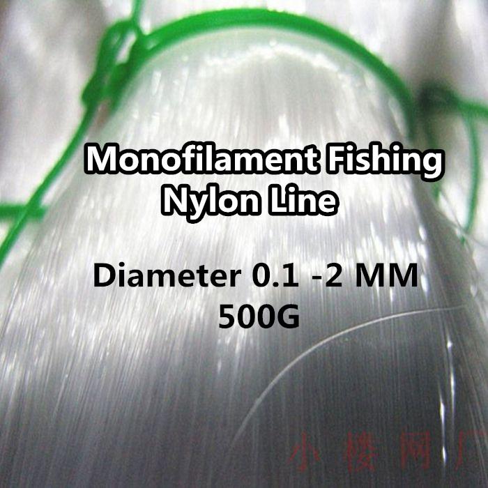 Super Monofilament Fishing Line Nylon Line Durable Diameter 0.1 -2 MM 500g(China (Mainland))