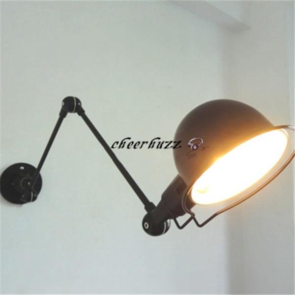 RH Loft Jielde Long Arm RH Mechanical Wall Lamp Black/White/Red Wall Light Wall Light Study Living Room Lighting WL62(China (Mainland))