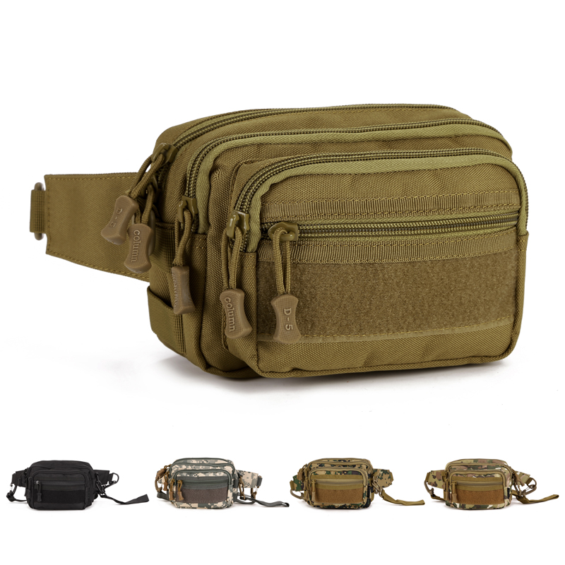 Tactical military Army sport small travel handbag shoulder outdoor waist pack day clutch bag men - DEFOE 5 Outdoors store
