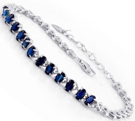 GVBORI 925 Sterling Sliver Natural Sapphire Gemstone Bracelet For Women Fine Jewelry Valentine Gift<br><br>Aliexpress