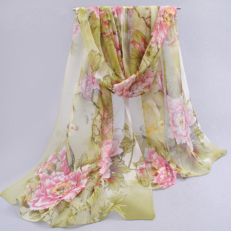 dots hot women 2014 peones chiffon georgette silk women's scarves spring autumn summer sun modern hijab style! wholesale fq053(China (Mainland))