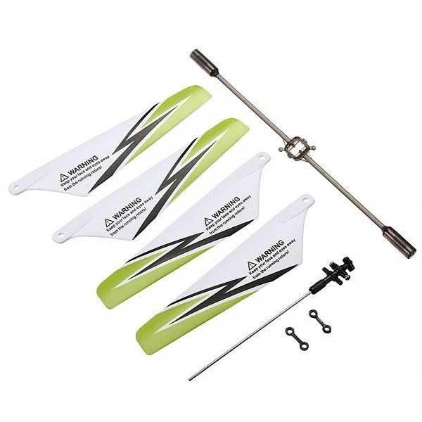 Caldwell Syma S107 S107G Parts Blades Balance Bar Inner Shaft Parts Set Green(China (Mainland))