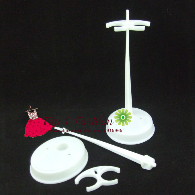 Free delivery 5pieces / lot white Doll holder Stand Show Holder For 1/6 dolls for Barbie Doll for Monster Excessive doll