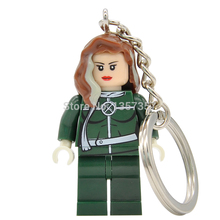 X-Men Rogue Minifigures Keychain For Key Custom DIY Ring Key Chain Marvel Super Heroes Building Blocks Models Figures Toys