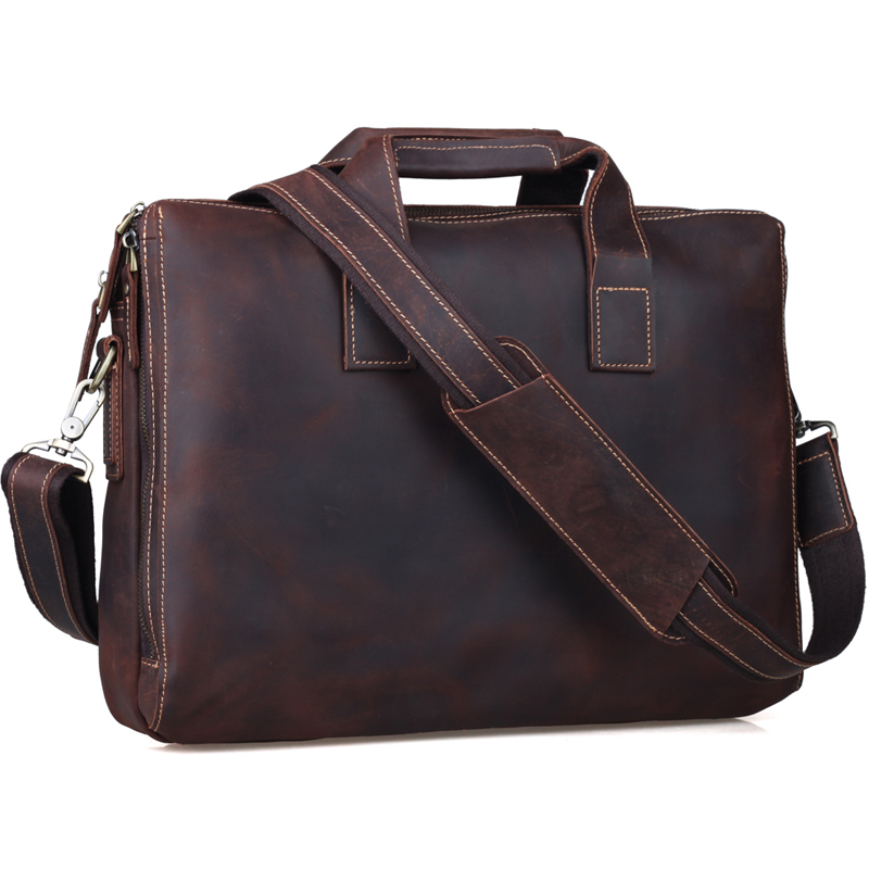 Free shipping TIDING VINTAGE STYLE MENS FASHION BRIEFCASE 15 LAPTOP TOTE LEATHER SHOULDER BAG  1063<br><br>Aliexpress
