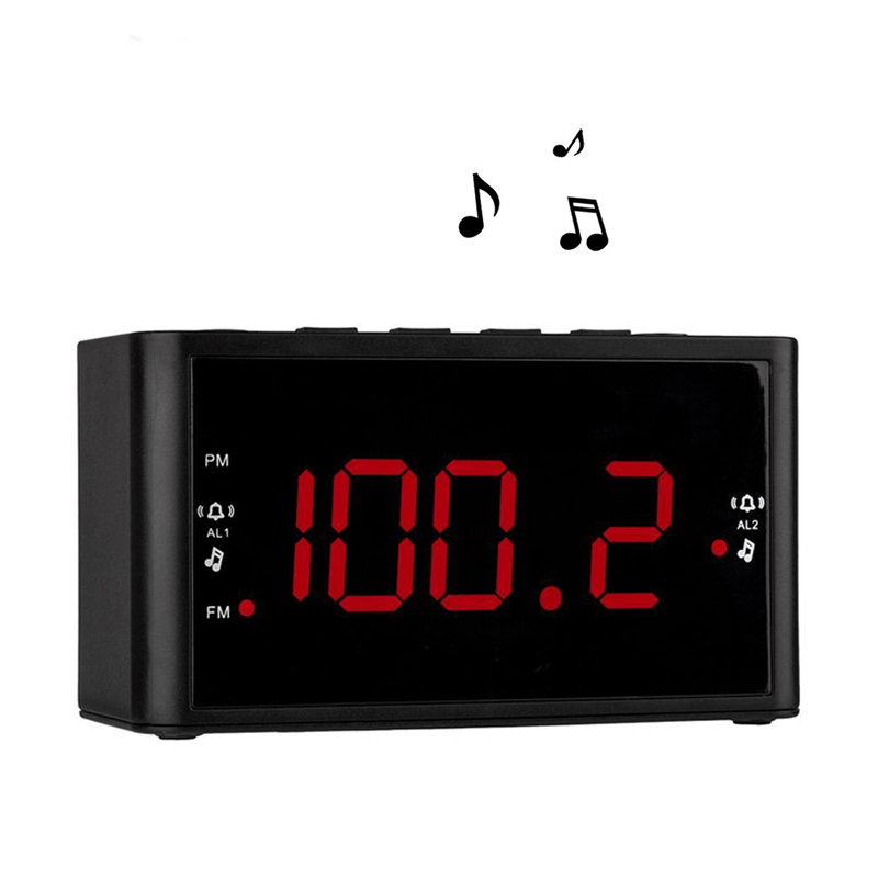 Large Display Dual Alarms Clock With FM Radio ,Battery Power ,Sleep Timer And Snooze , 2 Dimmer Optional(China (Mainland))
