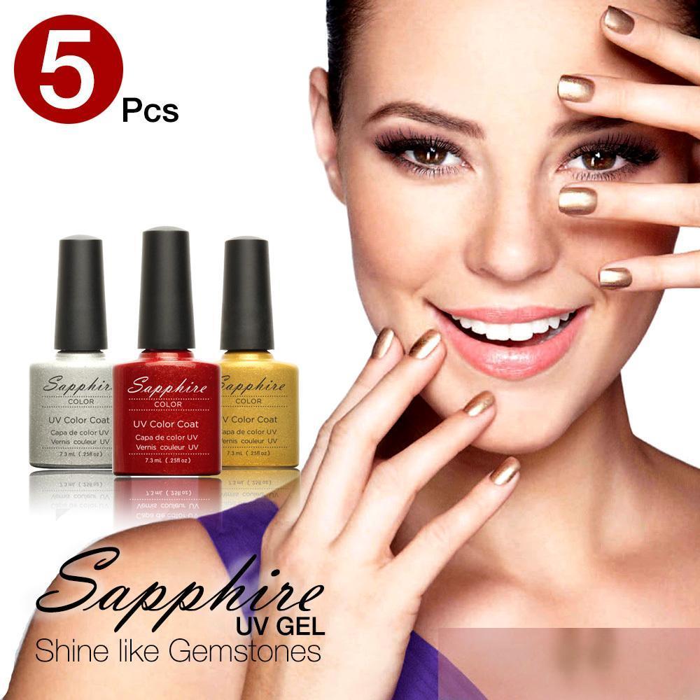 Гель для ногтей Sapphire 5PCS 159 7,3 Off 24005X5 синяк off гель 30г