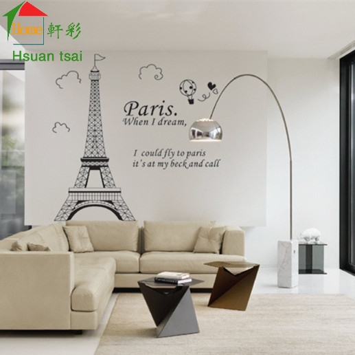 Eiffel Tower in Paris bedroom living room sofa wall decals house decoration  DIY vinyl wall stickers. Compare Prices on Wallpaper Eiffel Tower Paris  Online Shopping