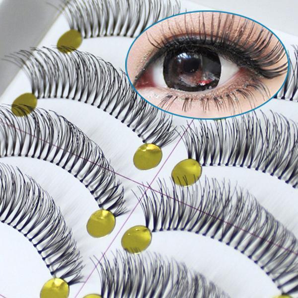A15 10 Pairs/LOT Natural Thick Long False Eyelashes Fake Eye Lashes Makeup Set VD388 P - All Dresses store