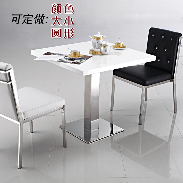 table front desk stainless white marble dining table sets small