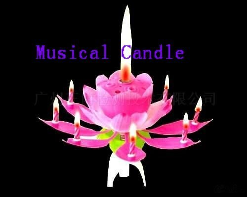 Birthday candles with music and flowers-crafts-candles-48%discount EMS-birthday gift -50pcs/lot