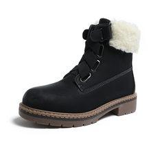 CAILASTE 2019 nieuwe winter Vrouwen wandelen martin schoenen elastische band wol blend warm bont enkellaars Sneeuw schoenen outdoor non -slip(China)