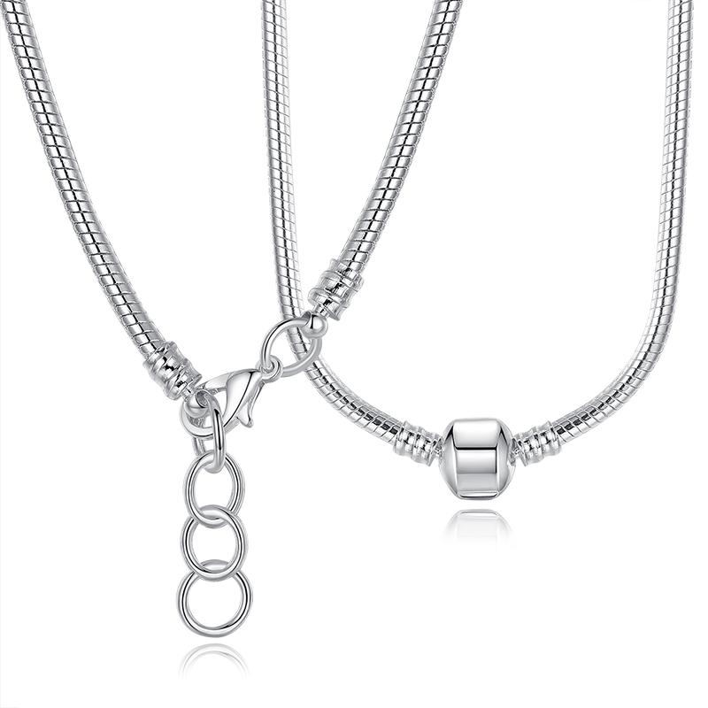 Aliexpress Com Buy Fashion 45cm Silver Plated Snake