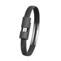 About 22cm Wristband Micro USB Cable Charger Charging Data Sync For Android Cell Phone Charger Bracelet