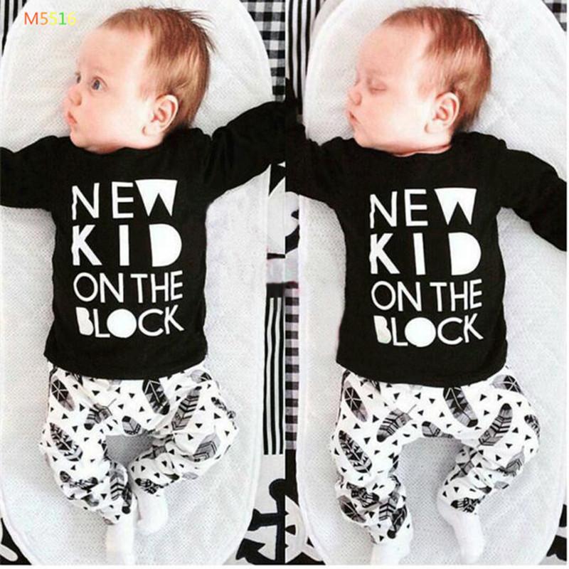 6M-3T 100%cotton Boy Sets 2016 summer Short Alphabet T-shirt baby clothes Kids clothes sets T-shirt 2 Piece child Clothes(China (Mainland))