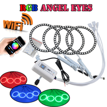 1Set RGB Led Angel Eyes Halo Rings Kit WIFI Wireless Remote Control Bmw E46 2D E81 Honda CRV 2003 2007 Fog Daylights - Nanjing Newsun's store