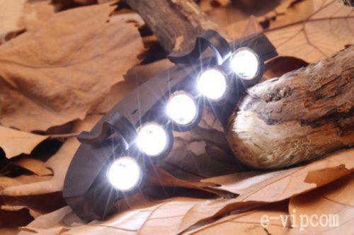 Гаджет  New Head Lamp 5 LED Head Light Fishing Camping Hunting Hiking Hat Torch Hunt None Свет и освещение