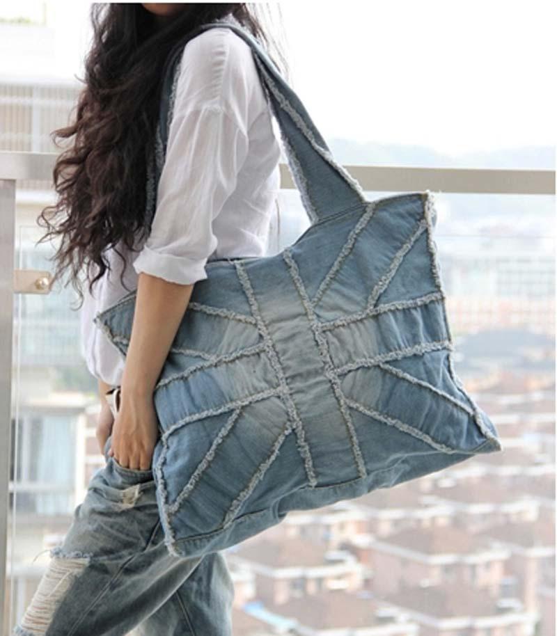Brand Jeans Bag 2015 Denim Big Bags Women Vintage Motorcycle Shoulder Blue Handbags Bolsa Femininas Famous W13 - My Style Fashion Store store