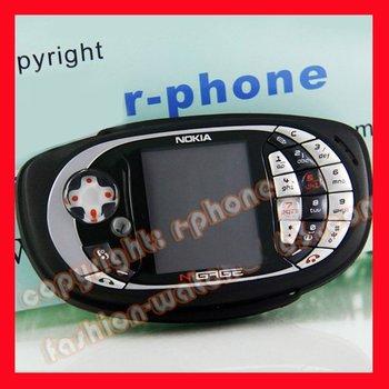 QD Game Phone Original Nokia N-Gage QD CellPhone Black + Battery + Charger + Box + Gift