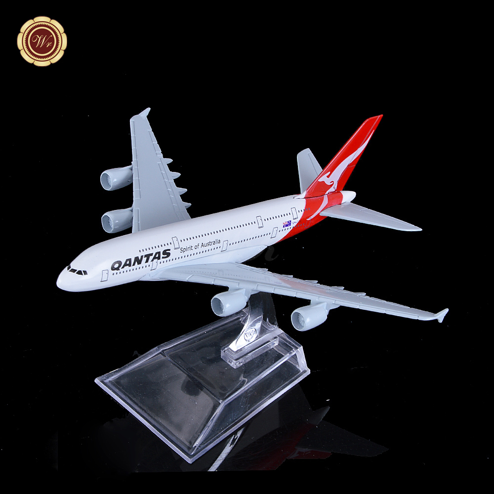 Christmas Gift Australia Airlines Qantas Boeing 747 Aircraft Quality Airplane Model 16cm Metal Plane Model Toys(China (Mainland))