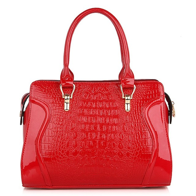 Bags 2013 women's handbag messenger bag handbag zipper hard handbags red bridal bag ol bag