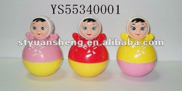 Duck style roly-poly novelty candy in toy
