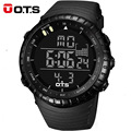 OTS Outdoor 50M Waterproof Large Dial Men Sports Watches Dive Swim Dress Fashion LED Digital Wristwatches