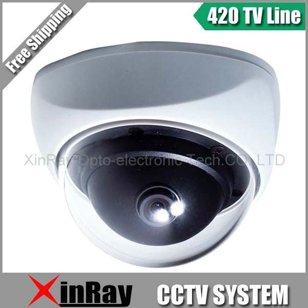 1/4-inch SHARP CCD 420TVL CCTV Camera Hemispherical camera 3.6mm lens Dome Camera XR-8420H-G1(China (Mainland))