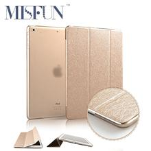 Slim Silk Smart Case for ipad air 2 / air 1 Flip Ultra Thin Leather Stand Cover for Apple Ipad 5 6 for Ipad Mini 3 2 1 Sleep/UP(China (Mainland))
