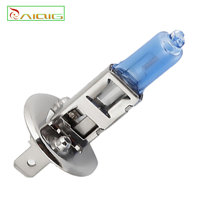 2pcs H1 100W 12V Halogen Bulb Super Xenon White Fog Lights