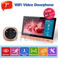 Wireless 7 TFT Color Video door phone Intercom Doorbell System Kit IR Camera doorphone monitor Speakerphone