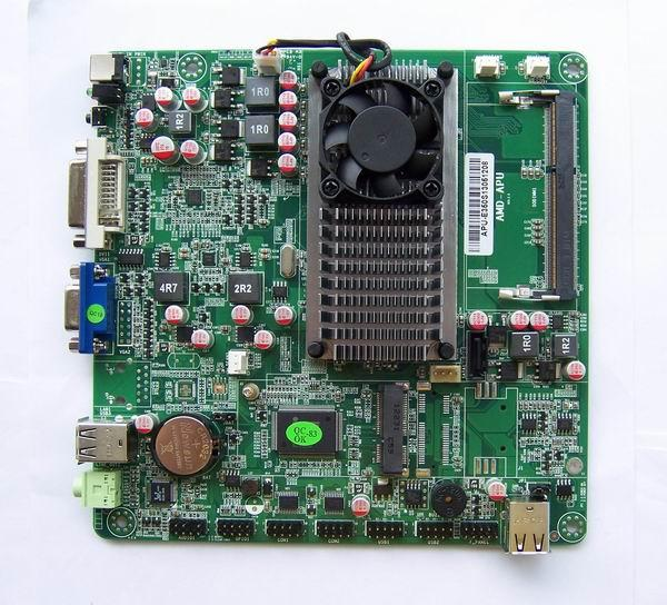 (Second hand)Disassemble industrial low-power APU E350 HTPC Mini-ITX motherboard spike HD dual-core Atom 100% tested good(China (Mainland))