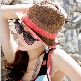 Choke a little chilli straw hats girls summer tide Korean Sun hats UV protection Sun Hat(China (Mainland))
