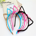 6 Colors Stylish Women Girls Cat Ears Headband Hairband Sexy Self Photo Prop Hair Band Accessories