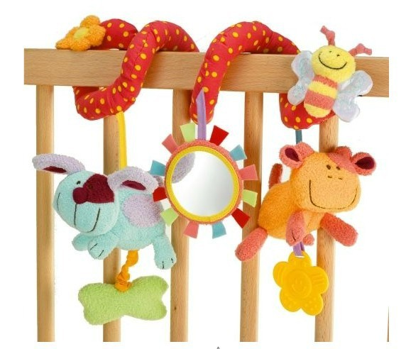 Multifunctional animals around/ lathe bed hang Safety mirrors/BB device/ring paper/teeth glue/take pull shock, baby toy  -  Baby Corner Store store