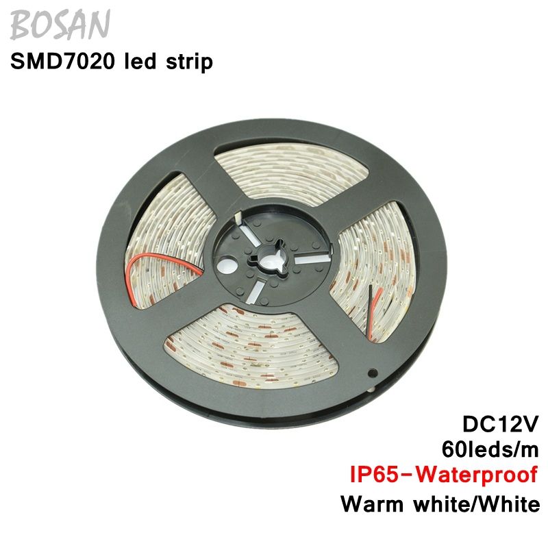 5M 7020 Chip LED Strip Ultre Bright Warm White IP65 Waterproof DC12V 60led/M Flexible led strip Light - Tomtop supermarket store
