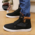 2016 Autumn Winter Brand Men Shoes Fashion Warm Cotton Boots Hight Quality Nubuck Leather Ankle Boots