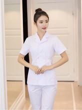 2018 спецодежда медицинская белый длинный/короткий рукав топы корректирующие пальто зубные лаборатория доктор униформа(China)