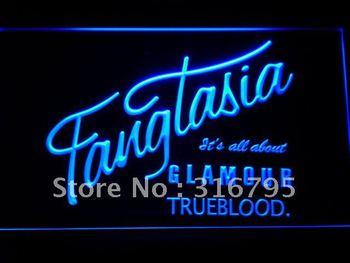 g163-b Fangtasia True Blood LED Neon Light Sign
