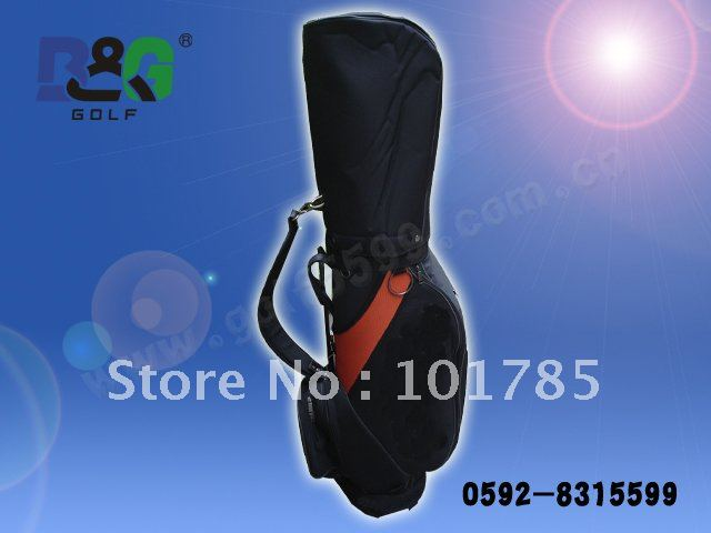 newest golf men bag with top quality+without shipping+sponge leather golf bag+in stock for quick delivery(China (Mainland))