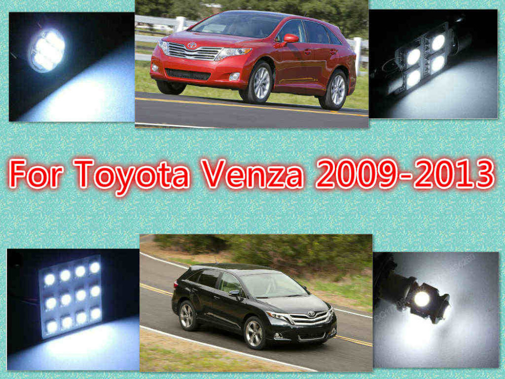 1White LED interior package kit Venza 2009-2013 Map Dome Trunk Courtesy License Plate Tag Lights - MR & MISS hours store