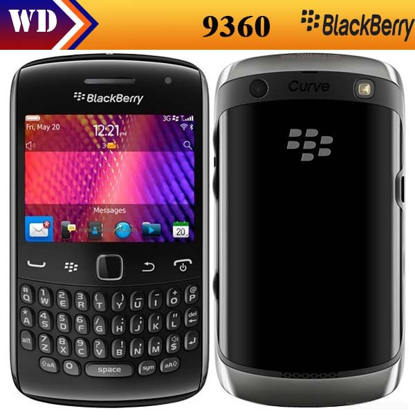9360 Original Blackberry curve 9360 5MP QWERTY KEYBOARD +3G Unlocked Mobile Phones Refurbished(China (Mainland))