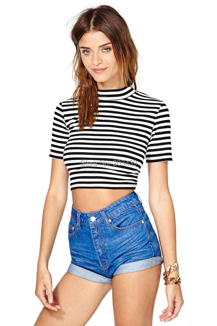 Black and white stripe plus size classic stripe t shirt for Black and white short sleeve shirts