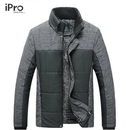 Free Shipping 2015 New Men's Fashion Casual Autumn&Winter thick Jacket Cotton Stand Collar Coat M/L/XL/XXL/XXXL fashion jacket(China (Mainland))